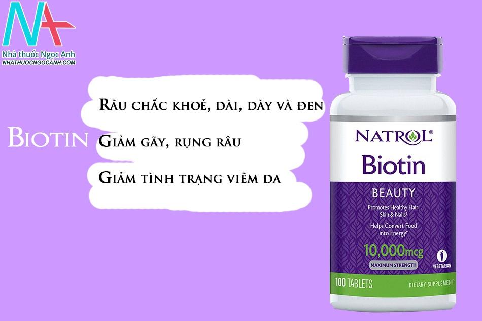 Thuốc Biotin – hỗ trợ quá trình mọc râu