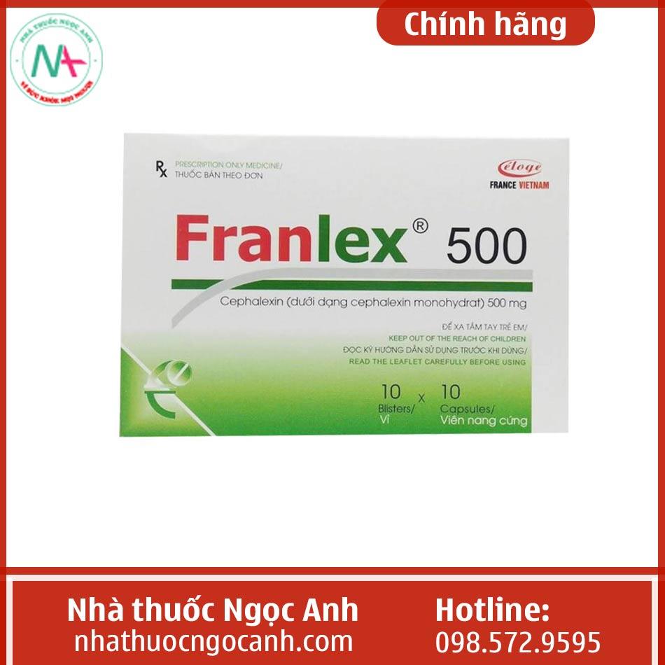 Hình ảnh hộp thuốc Franlex 500